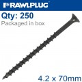 DRYWALL SCREW COARSE THREAD 4.2MMX70MM X250-BOX